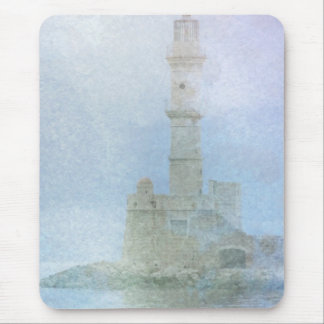 Lighthouse in the Mist Mouse Pad