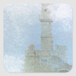 Lighthouse in the Mist Square Sticker