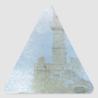 Lighthouse in the Mist Triangle Sticker