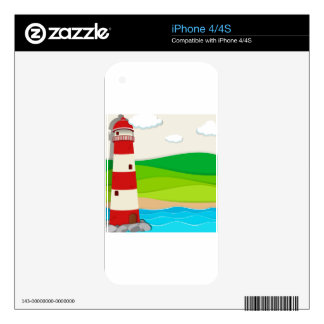 Lighthouse in the ocean iPhone 4 decal