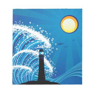 Lighthouse in the Sea 2 Notepad