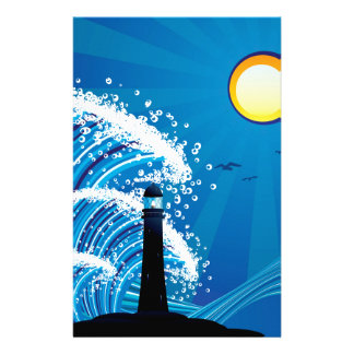 Lighthouse in the Sea 2 Stationery