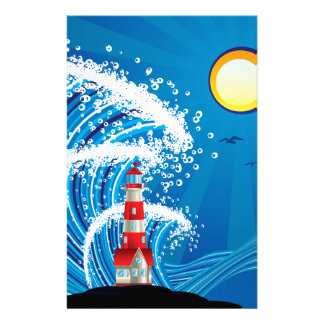 Lighthouse in the Sea 3 Stationery