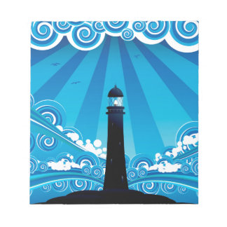 Lighthouse in the Sea 4 Notepad
