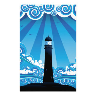 Lighthouse in the Sea 4 Stationery