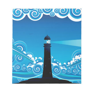 Lighthouse in the Sea 5 Notepad