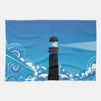 Lighthouse in the Sea 5 Towel