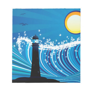 Lighthouse in the Sea Notepad