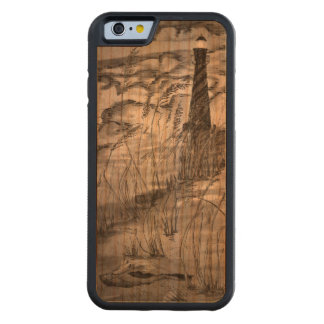 Lighthouse In The Storm Carved Cherry iPhone 6 Bumper Case