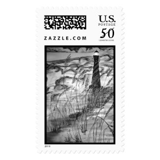 Lighthouse In The Storm Postage
