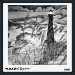 """Lighthouse In The Storm Wall Sticker<br><div class=""""desc"""">A hand drawn pen and ink lighthouse scene shaded with watercolors.</div>"""