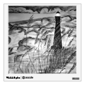 Lighthouse In The Storm Wall Sticker