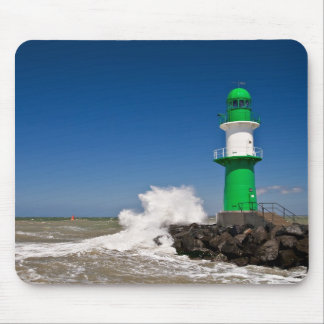 Lighthouse in Warnemuende on the Baltic Sea coast Mouse Pad