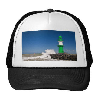 Lighthouse in Warnemuende on the Baltic Sea coast Trucker Hat