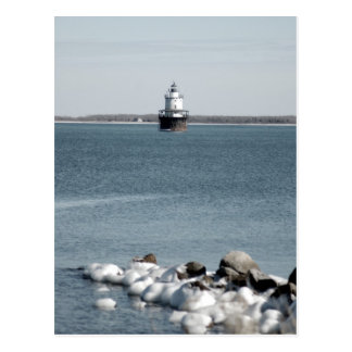 Lighthouse in Winter Postcards