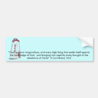 Lighthouse Inspiration Car Bumper Sticker