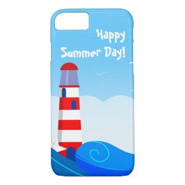Beach Themed Lighthouse iPhone case
