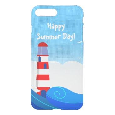 Beach Themed Lighthouse iPhone deflector case
