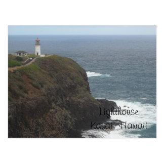 Lighthouse - Kauai, Hawaii Postcard