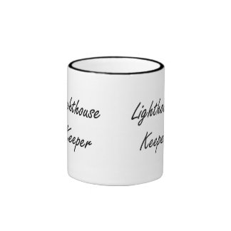 Lighthouse Keeper Artistic Job Design Ringer Coffee Mug