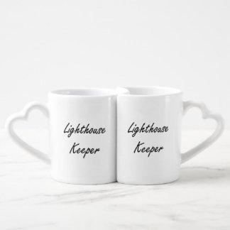 Lighthouse Keeper Artistic Job Design Couples' Coffee Mug Set