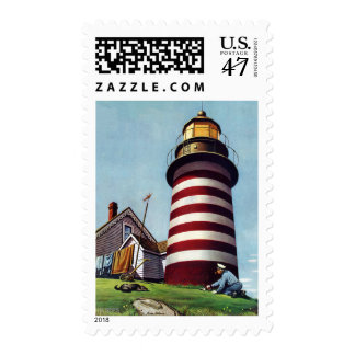 Lighthouse Keeper by Stevan Dohanos Postage