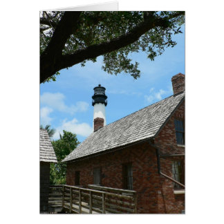 Lighthouse keeper's cottages greeting card