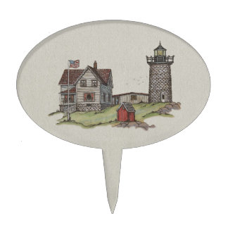 Lighthouse & Keepers House Cake Topper