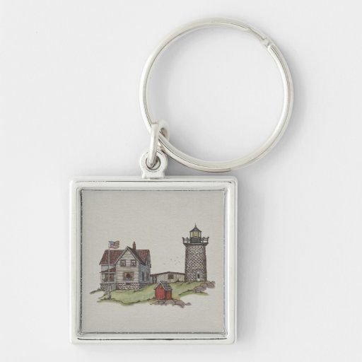 Lighthouse & Keepers House Key Chains