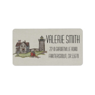 Lighthouse & Keepers House Label