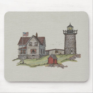 Lighthouse & Keepers House Mouse Pad
