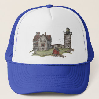 Lighthouse & Keepers House Trucker Hat