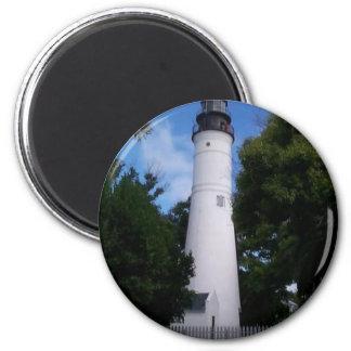 lighthouse_keywest 2 inch round magnet