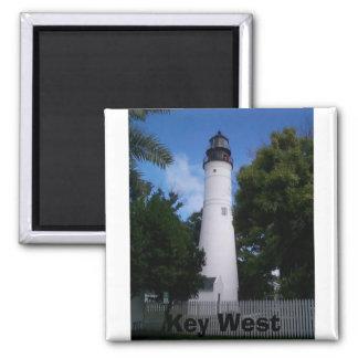 lighthouse_keywest, Key West 2 Inch Square Magnet