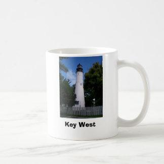 lighthouse_keywest, Key West Classic White Coffee Mug