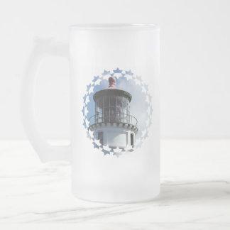 Lighthouse Light Frosted Beer Mug