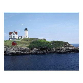 Lighthouse, Maine, U.S.A. Flyer Design