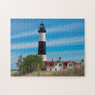 Lighthouse Michigan. Jigsaw Puzzle
