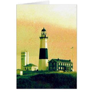 lighthouse montauk card