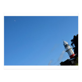 LIGHTHOUSE & MOON TASMANIA AUSTRALIA POSTCARD