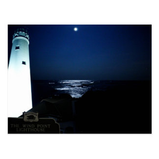 "Lighthouse Moonlight - ""Let Me Be Your Light"" Postcard"