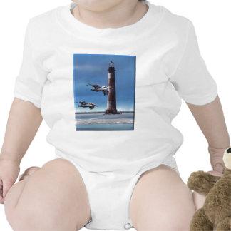 Lighthouse Morris Island Baby Creeper