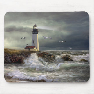 Lighthouse Mouse Pad Yaquina Head Oregon