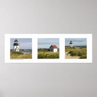 Lighthouse Nantucket, Massachusetts Triptych Poster