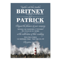 Lighthouse Nautical Themed Wedding Invitations