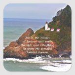 Lighthouse Ocean Sea Christian Creationarts Stickers