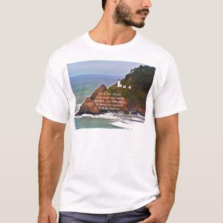 Lighthouse Ocean Sea Christian Creationarts T-Shirt