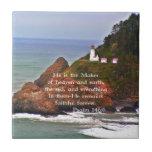 Lighthouse Ocean Sea Christian Creationarts Ceramic Tile