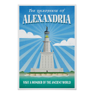 Lighthouse of Alexandria - Ancient Wonder Poster