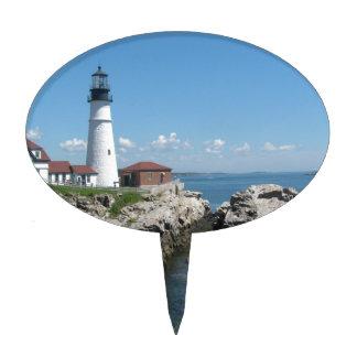 Lighthouse Of Bar Harbor Cake Topper